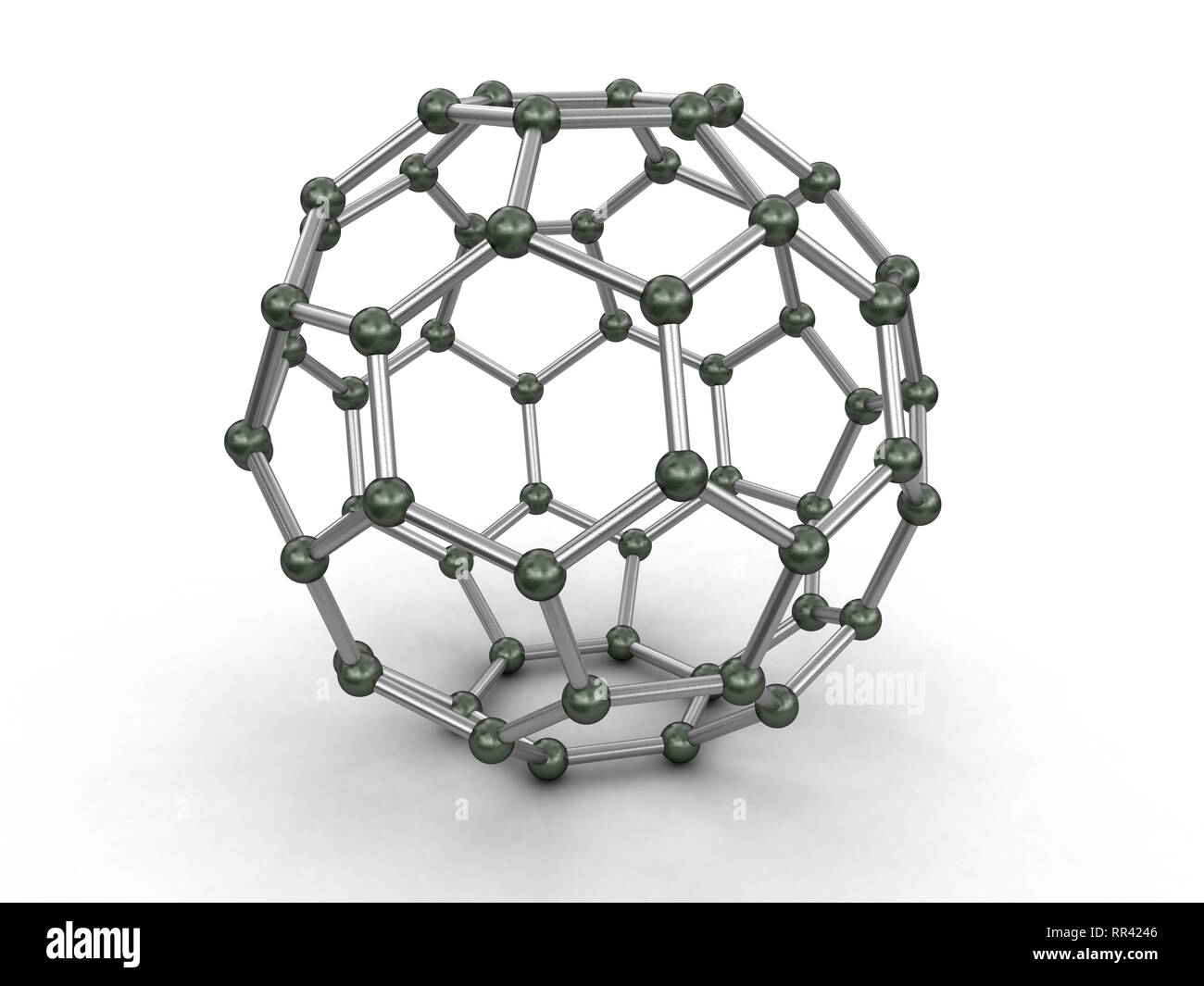 Hexagonal geometric forms. Image with clipping path - Stock Image