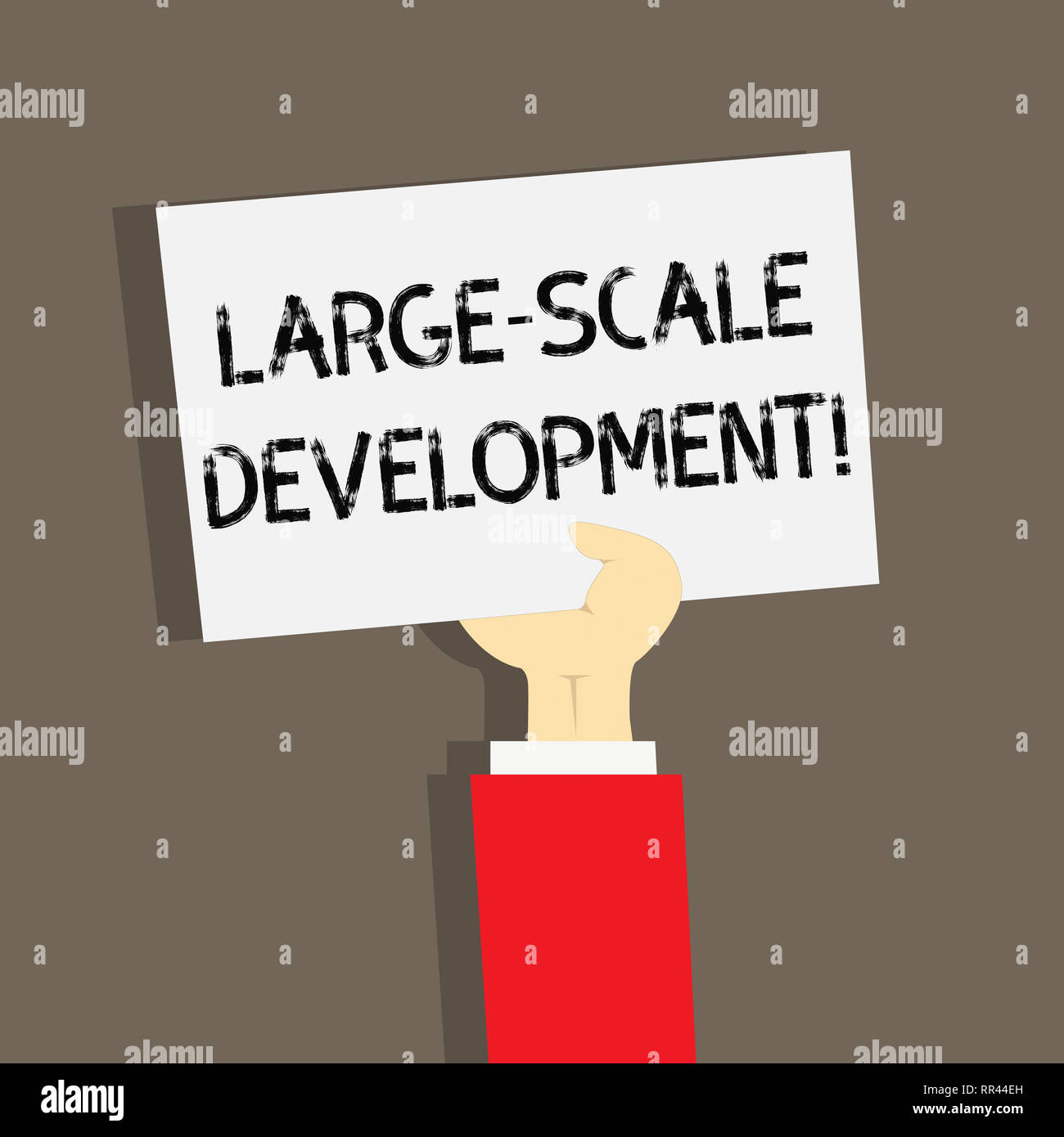 Word writing text Large Scale Development  Business concept