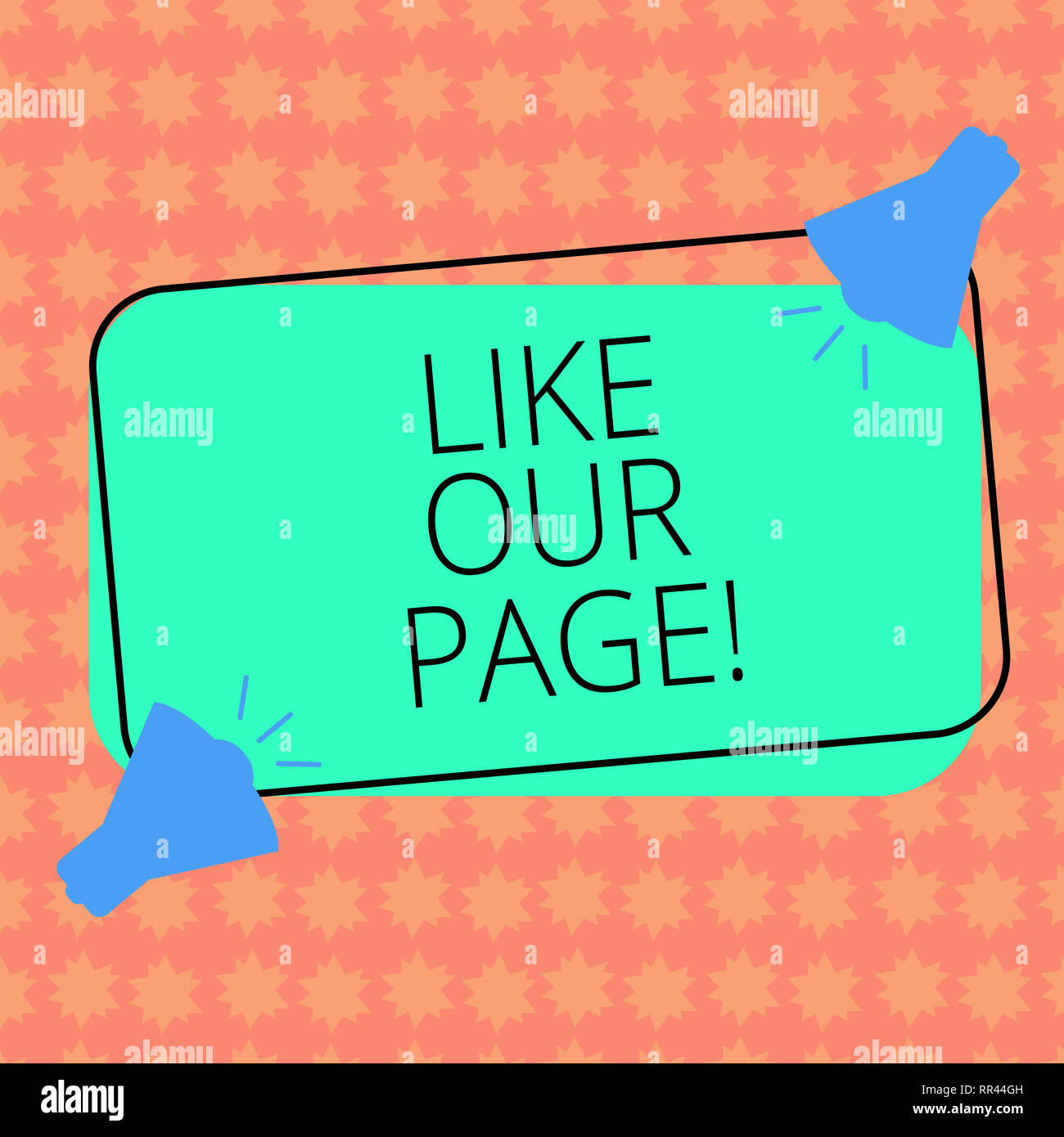 Writing note showingLike Our Page  Business photo showcasing