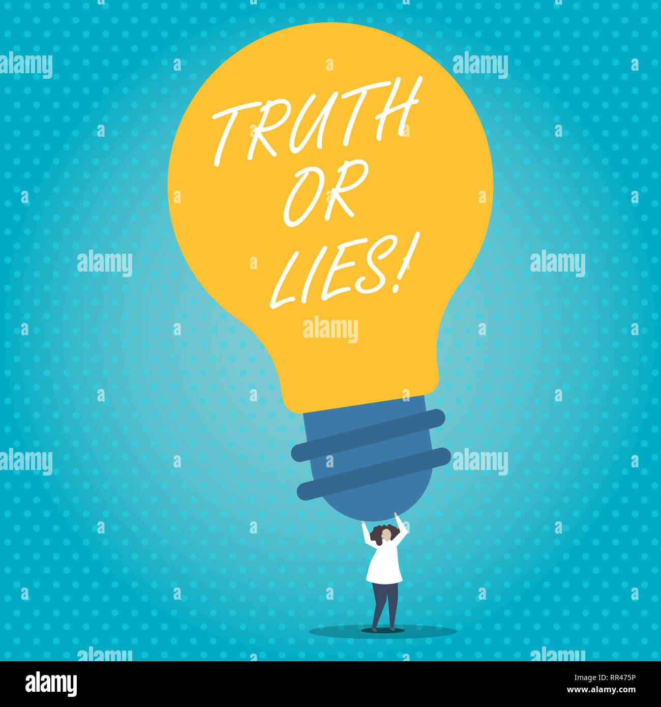 Handwriting text Truth Or Lies  Concept meaning Decide