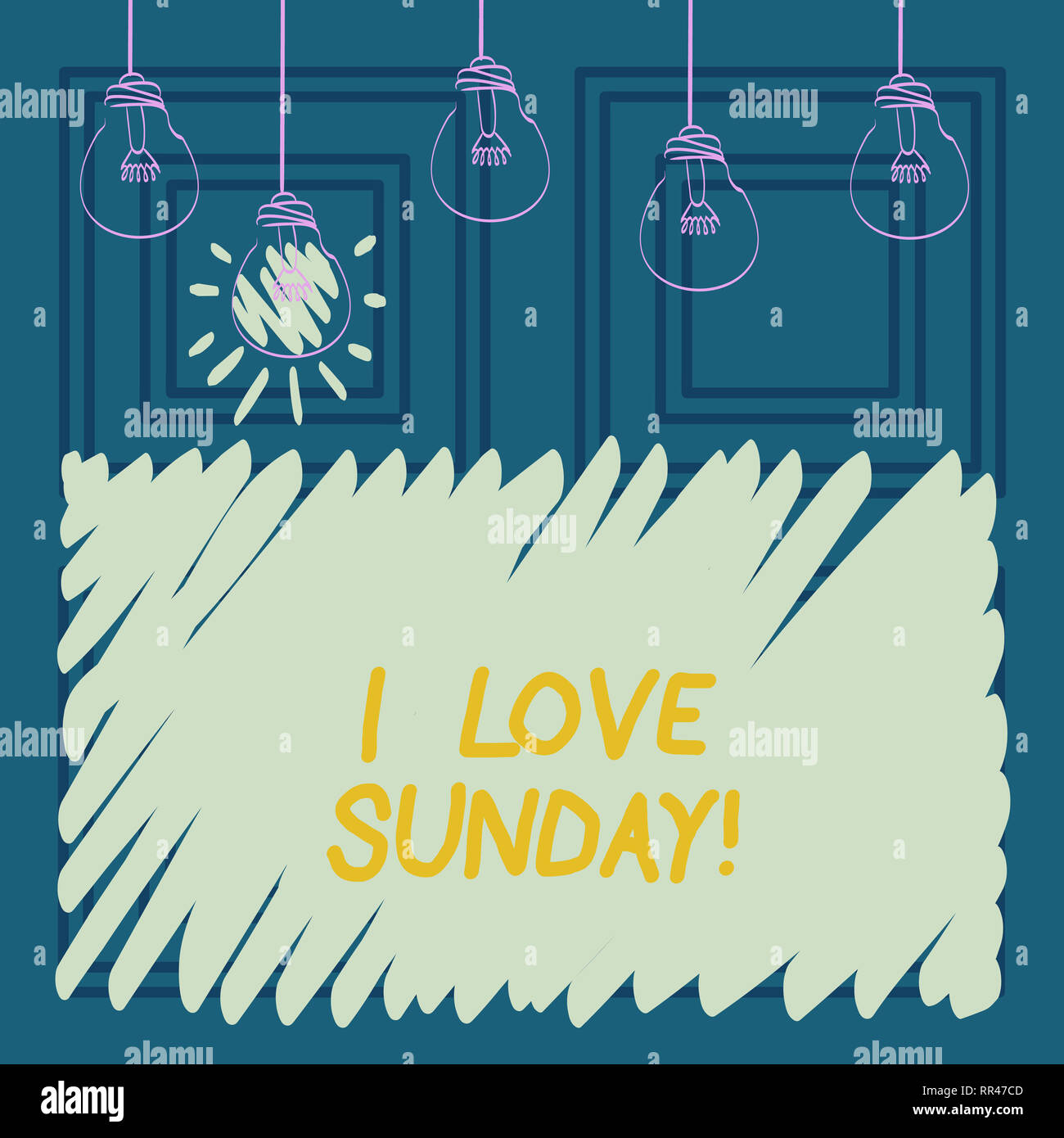 Conceptual Hand Writing Showing I Love Sunday Business Photo