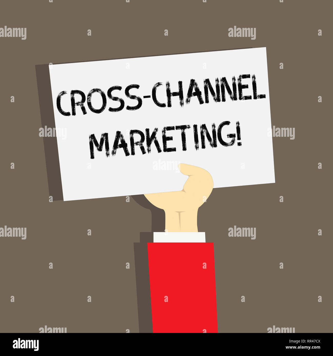 Word writing text Cross Channel Marketing. Business concept for Engaging with customer across every digital channel - Stock Image