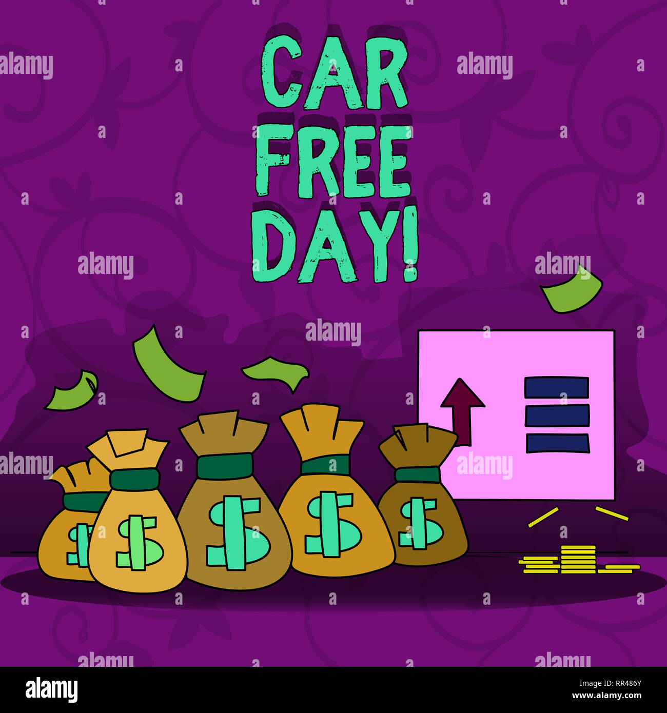 Conceptual hand writing showing Car Free Day. Business photo showcasing Environment protection world campaign avoiding pollution Stock Photo