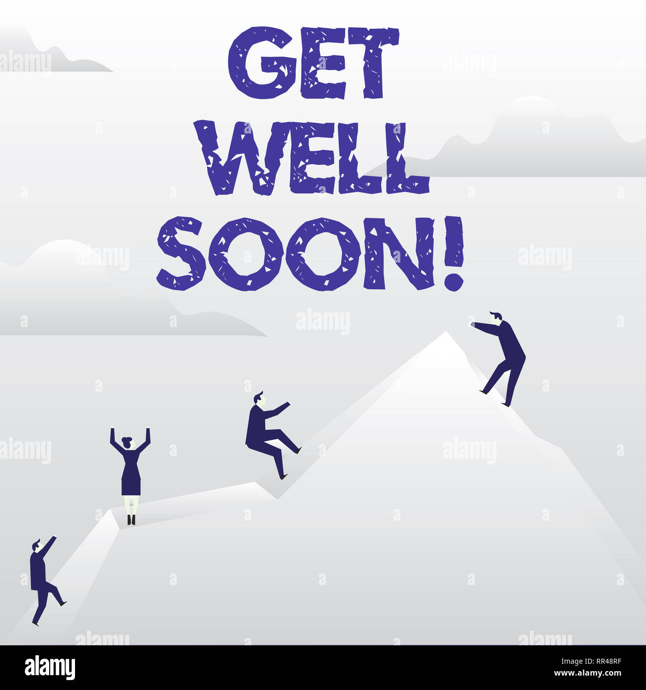 Conceptual Hand Writing Showing Get Well Soon Business Photo Showcasing Wishing You Have Better Health Than Now Greetings Good Wishes Stock Photo Alamy