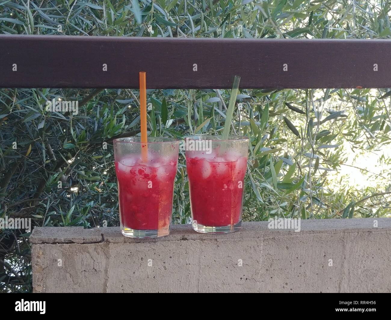 red cocktails - Stock Image