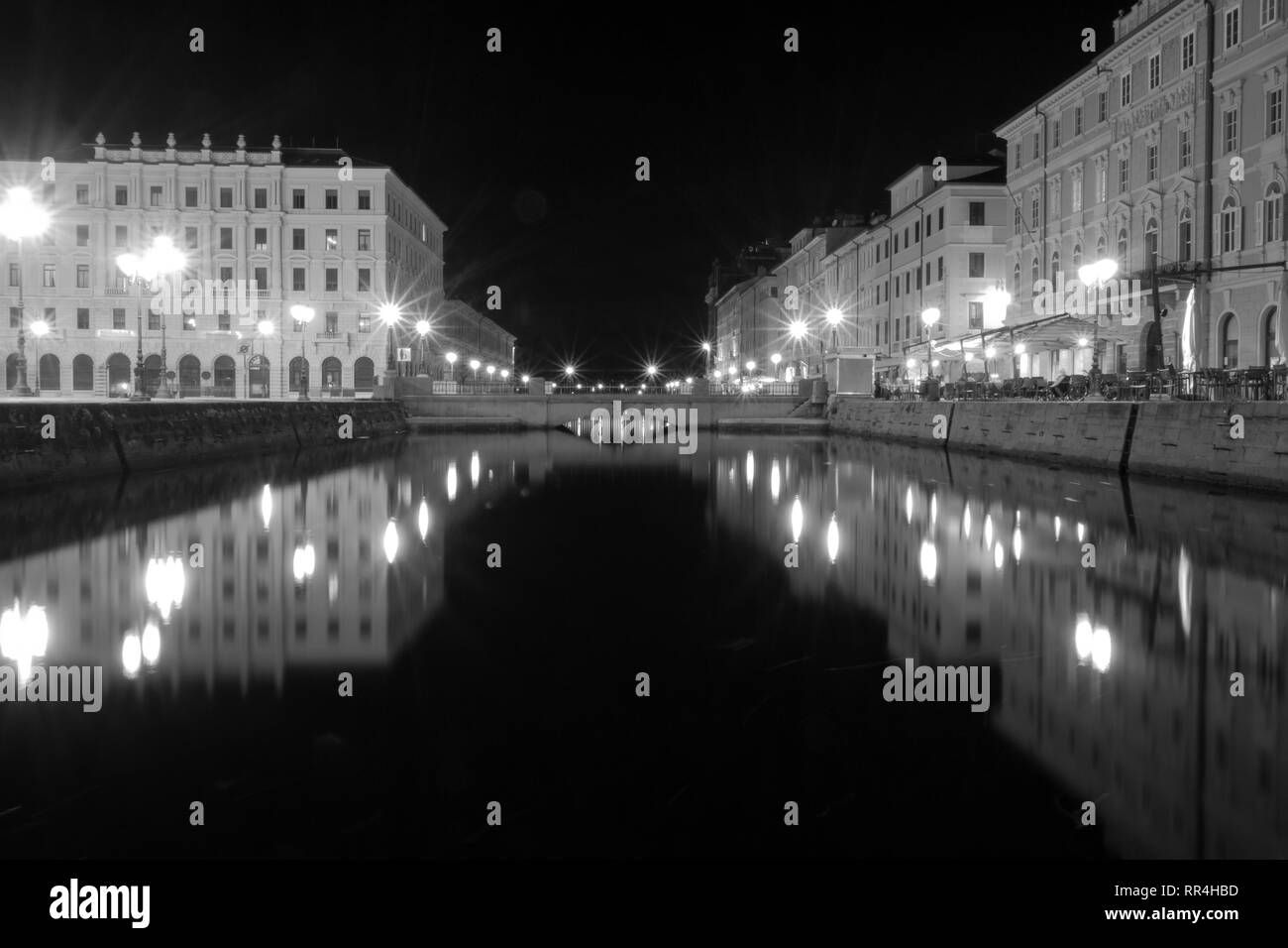 A view of Ponte Rosso Square. - Stock Image