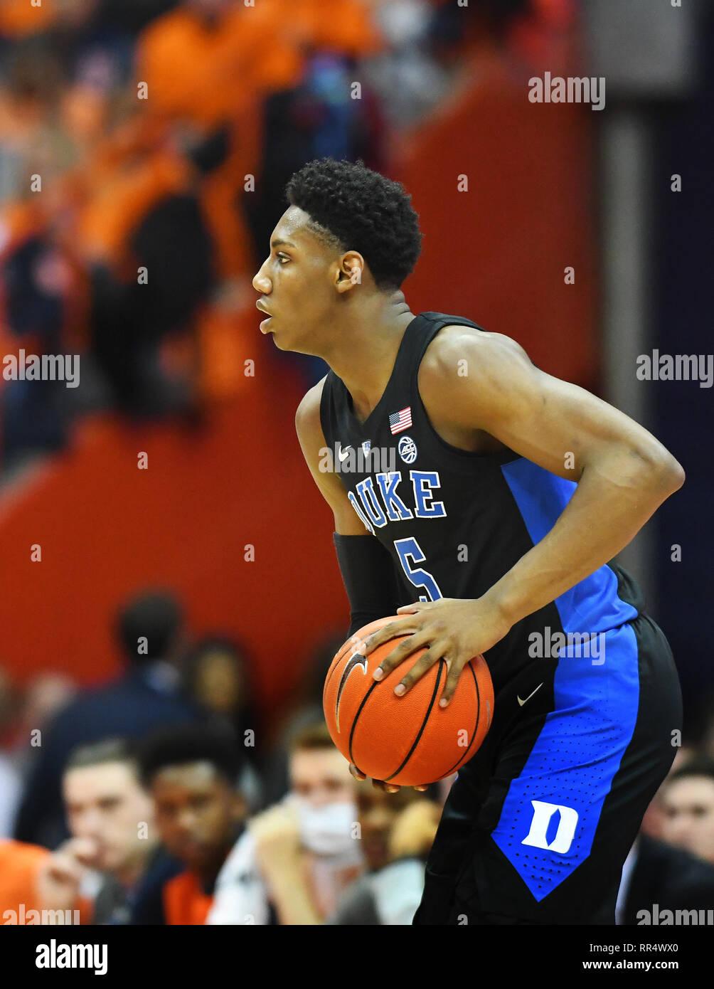 Syracuse Ny Usa 23rd Feb 2019 Duke Blue Devils Freshman