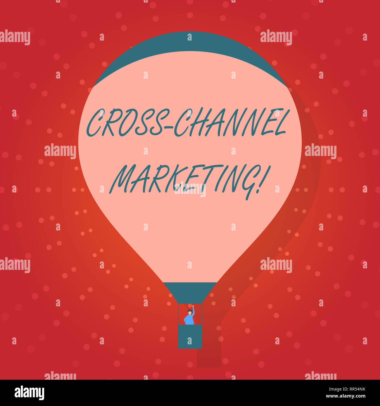Text sign showing Cross Channel Marketing. Conceptual photo Engaging with customer across every digital channel - Stock Image