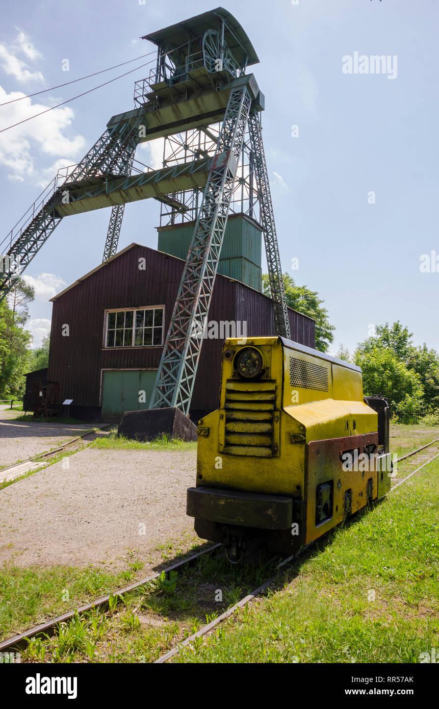 Ottiliaeschacht, Förderturm, Clausthal-Zellerfeld, Harz, Niedersachsen, Deutschland - Stock Image