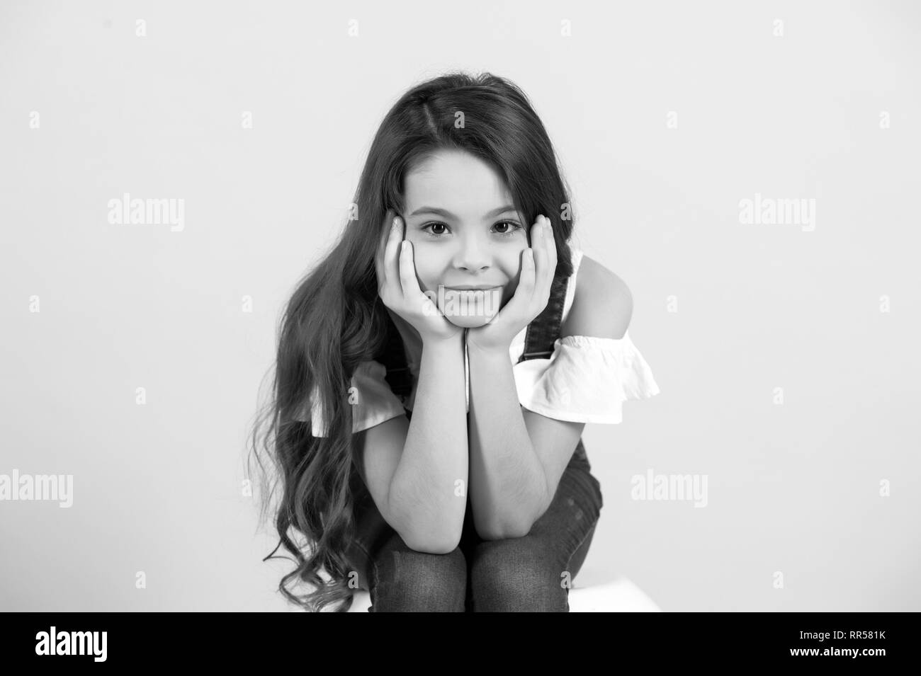 Girl Preteen Black And White Stock Photos Images Alamy