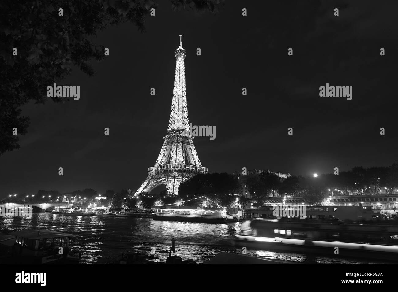 Paris, France - September 23, 2017: paris eiffel tower in france. Tour and travel. Discover the eiffel tower. The Eiffel tower is iconic structure. - Stock Image