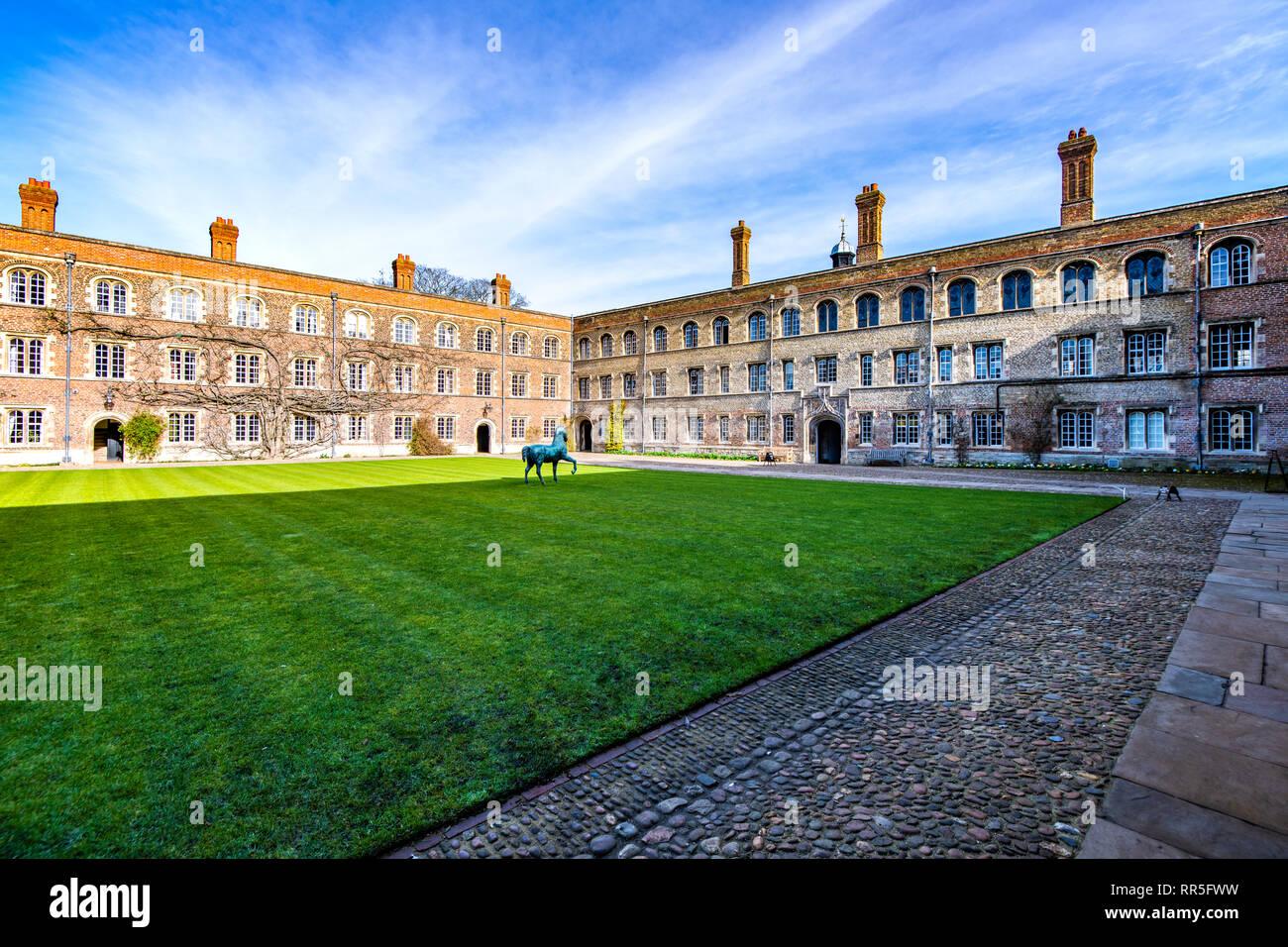 View of Jesus College, Cambridge, England - Stock Image