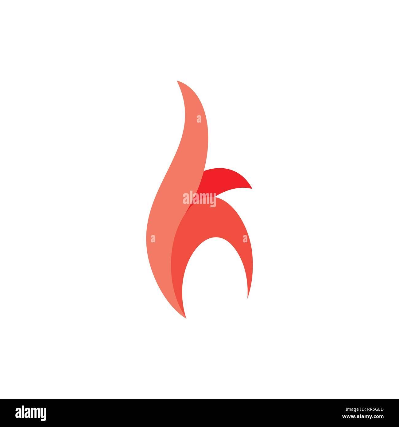 letter h fire red flame design logo vector Stock Vector Art