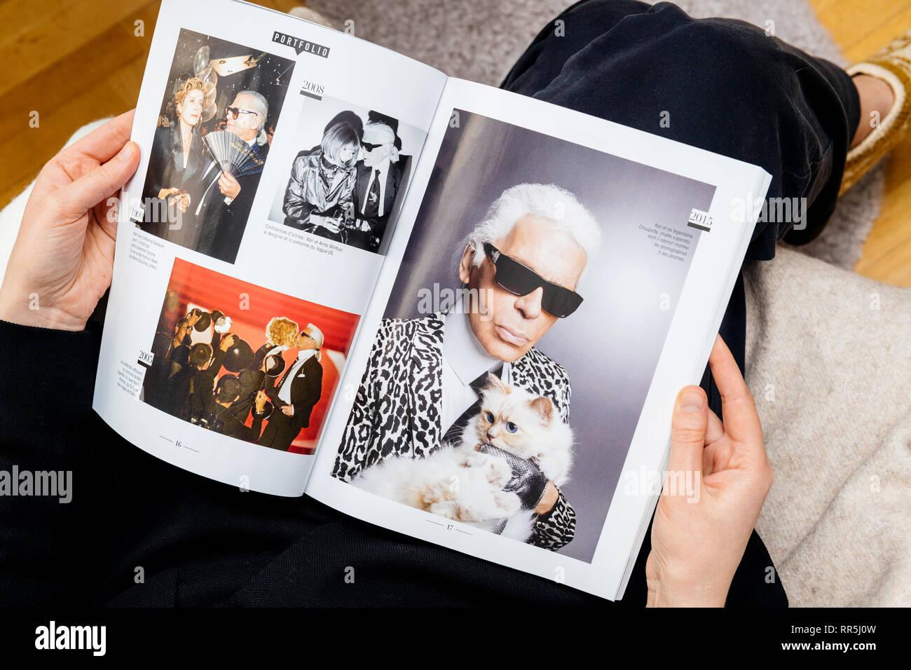 Karl Lagerfeld Cat Stock Photos Karl Lagerfeld Cat Stock Images
