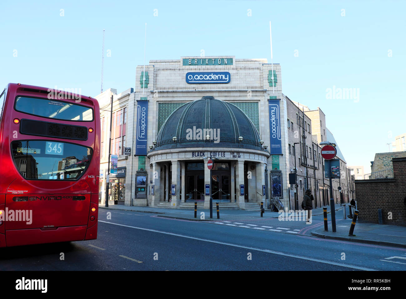 Exterior of O2 Academy building in Brixton, South London UK  KATHY DEWITT Stock Photo