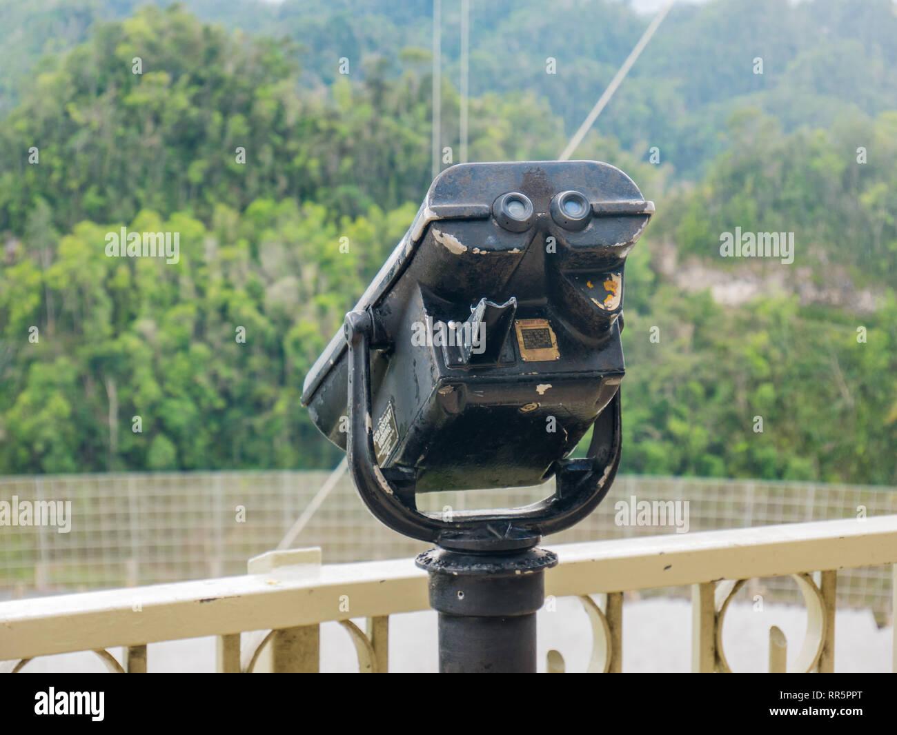 Old Binoculars at Arecibo, Puerto Rico, USA. - Stock Image