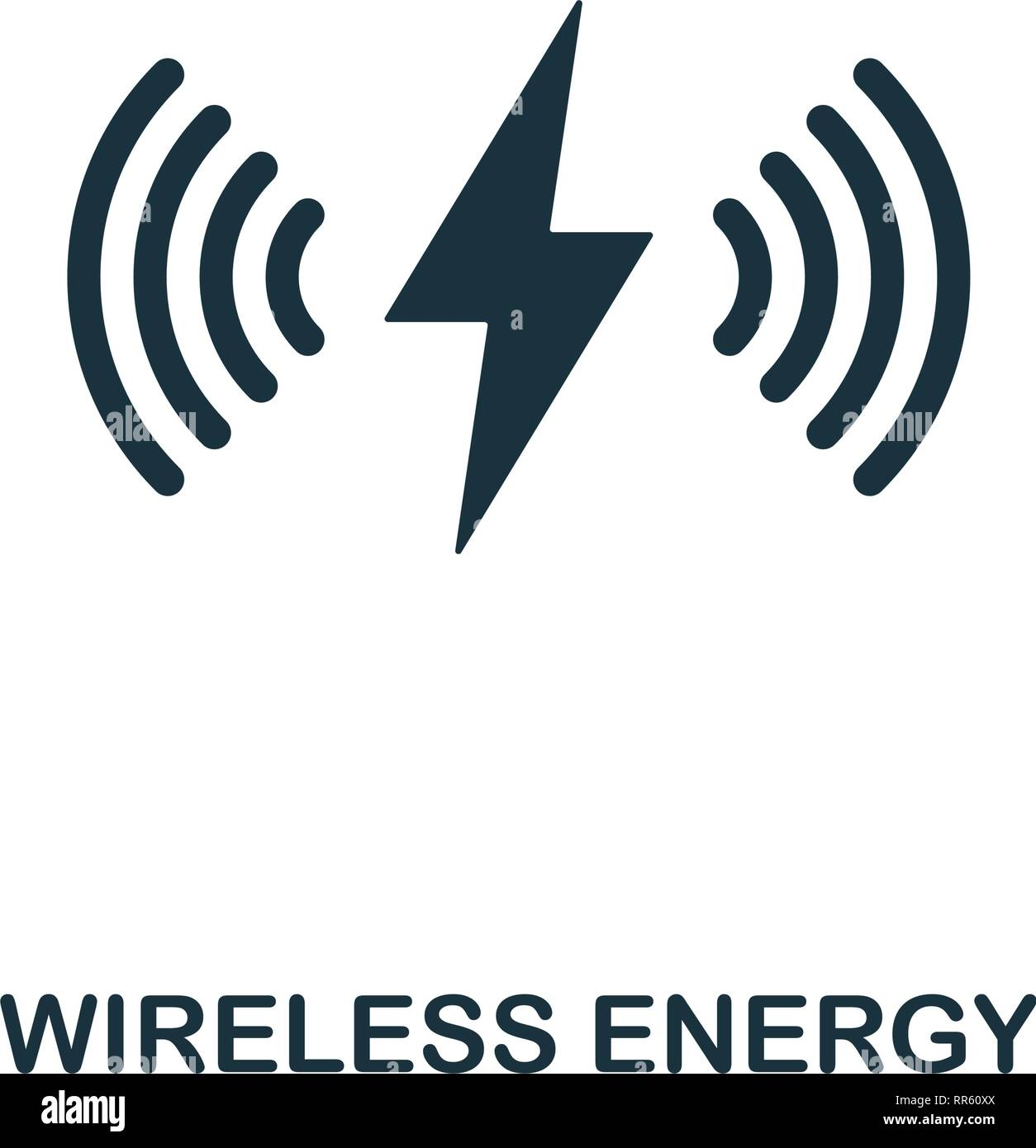 Wireless Energy icon. Premium style design from future technology icons collection. Pixel perfect Wireless Energy icon for web design, apps, software - Stock Vector