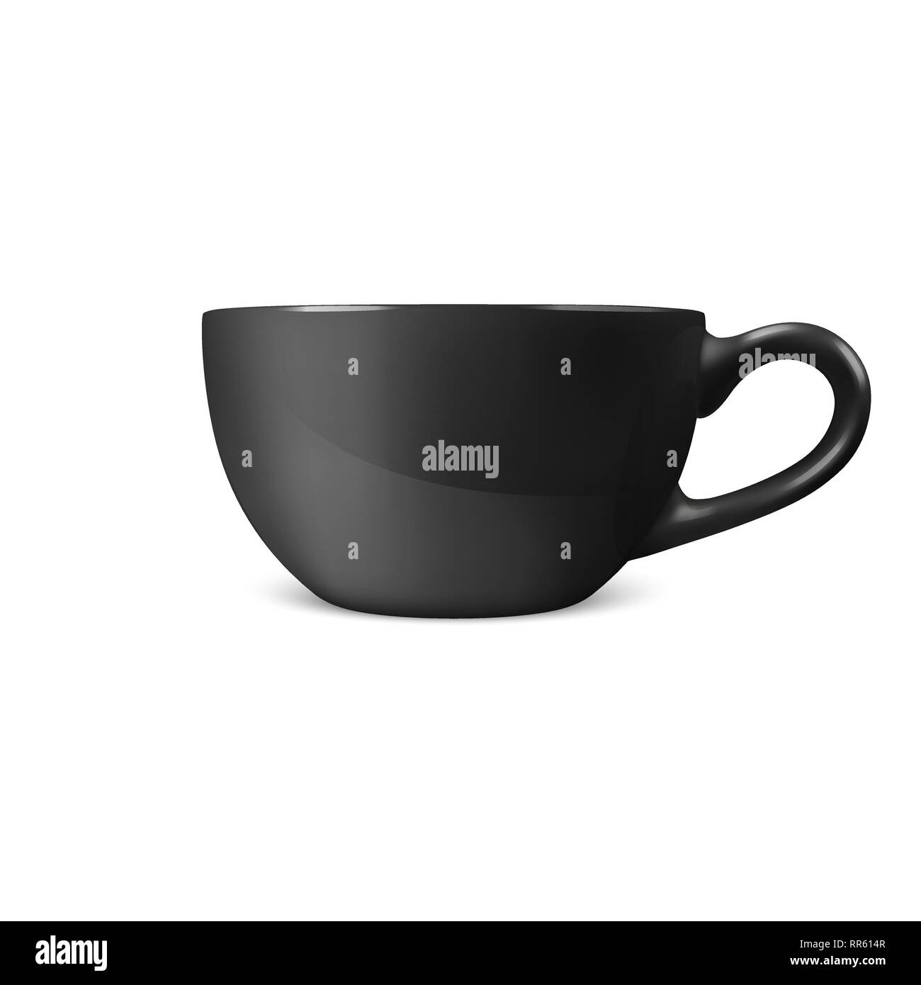 realistic vector 3d glossy blank black coffee tea cup mug icon closeup isolated on white background design template of porcelain cup or mug for stock vector image art alamy alamy
