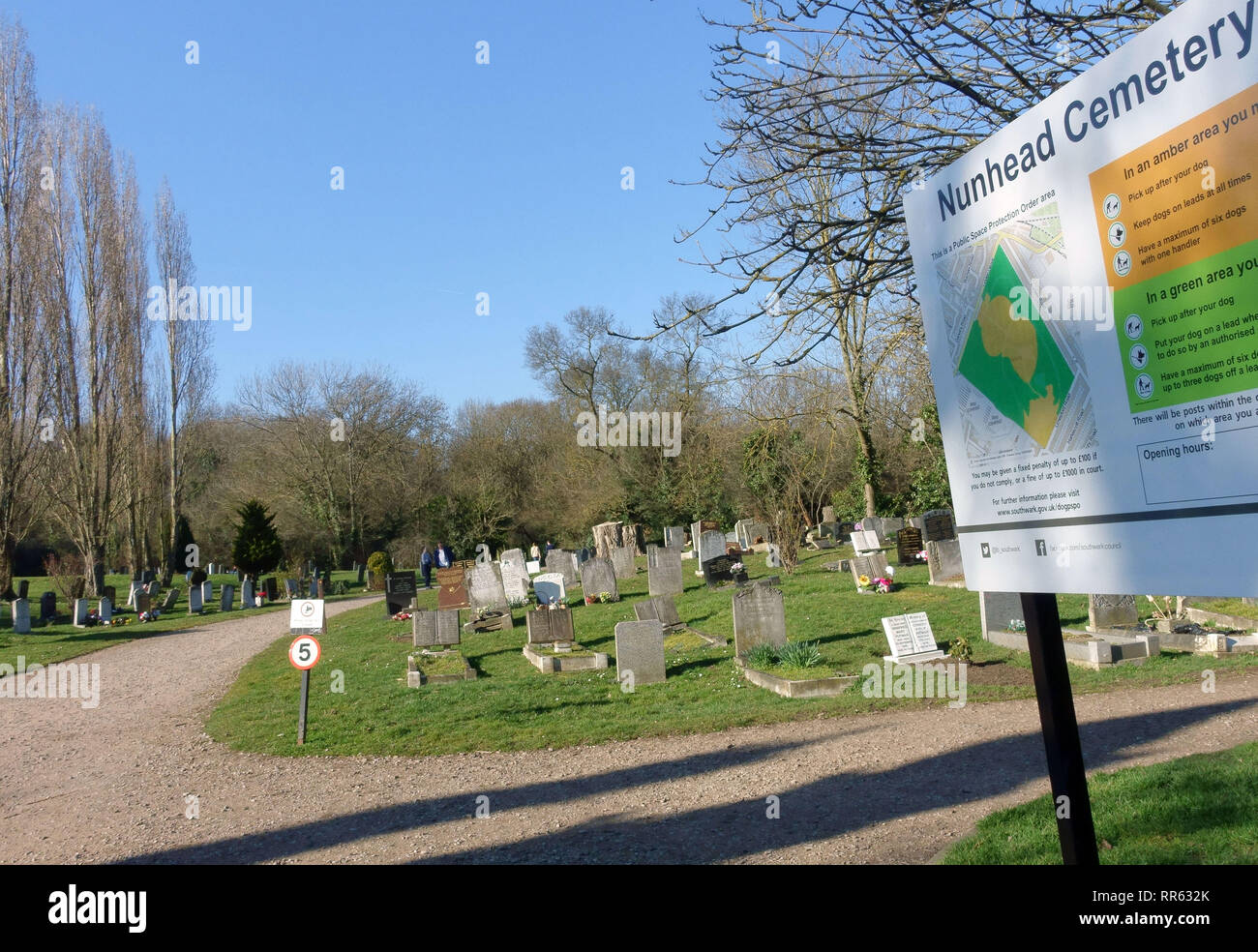 Nunhead Cemetery in South East London Stock Photo