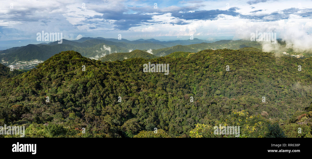 High above panorama view of the Cameron Highlands, Malaysia. - Stock Image