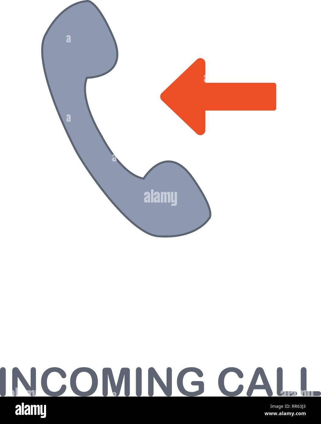 Incoming Call icon. Premium two colors style design from contact us icons collection. Pixel perfect Incoming Call icon for web design, apps, software - Stock Image