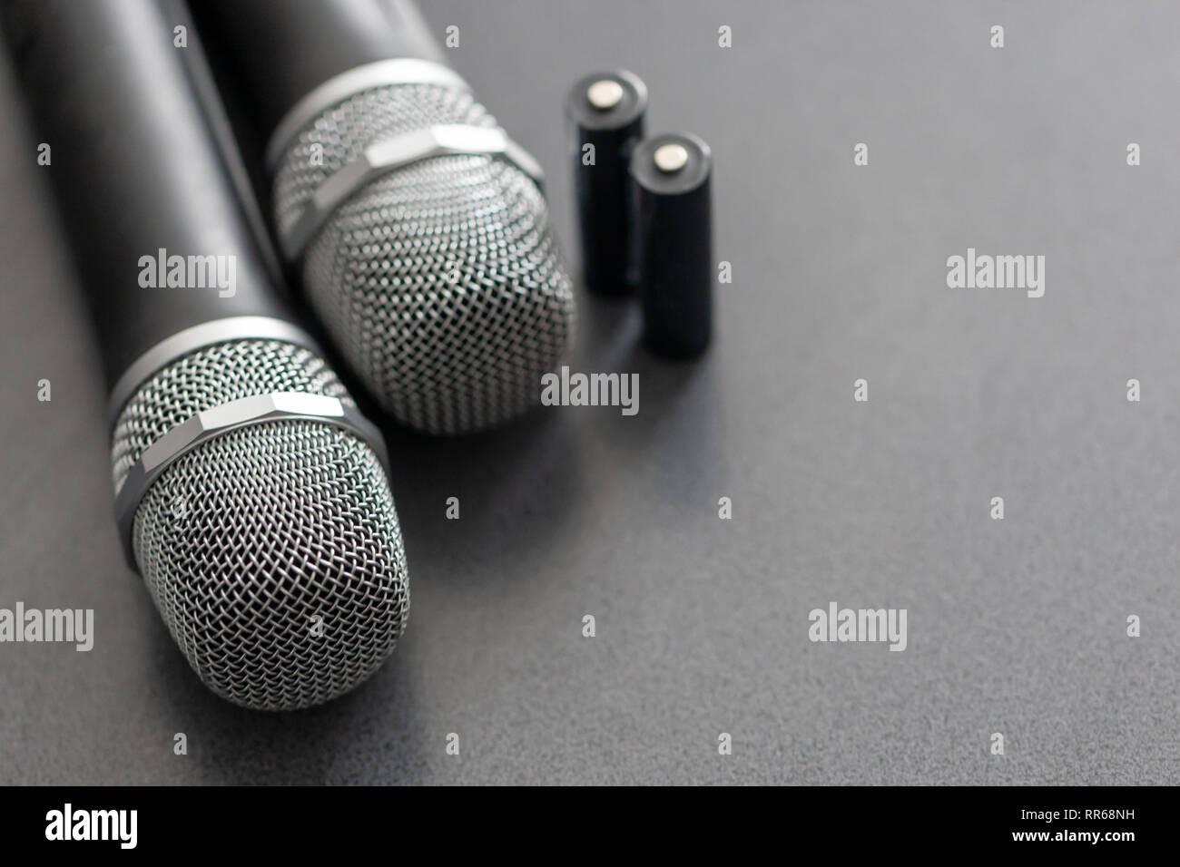 radio microphones  wireless sound transmission system  soft