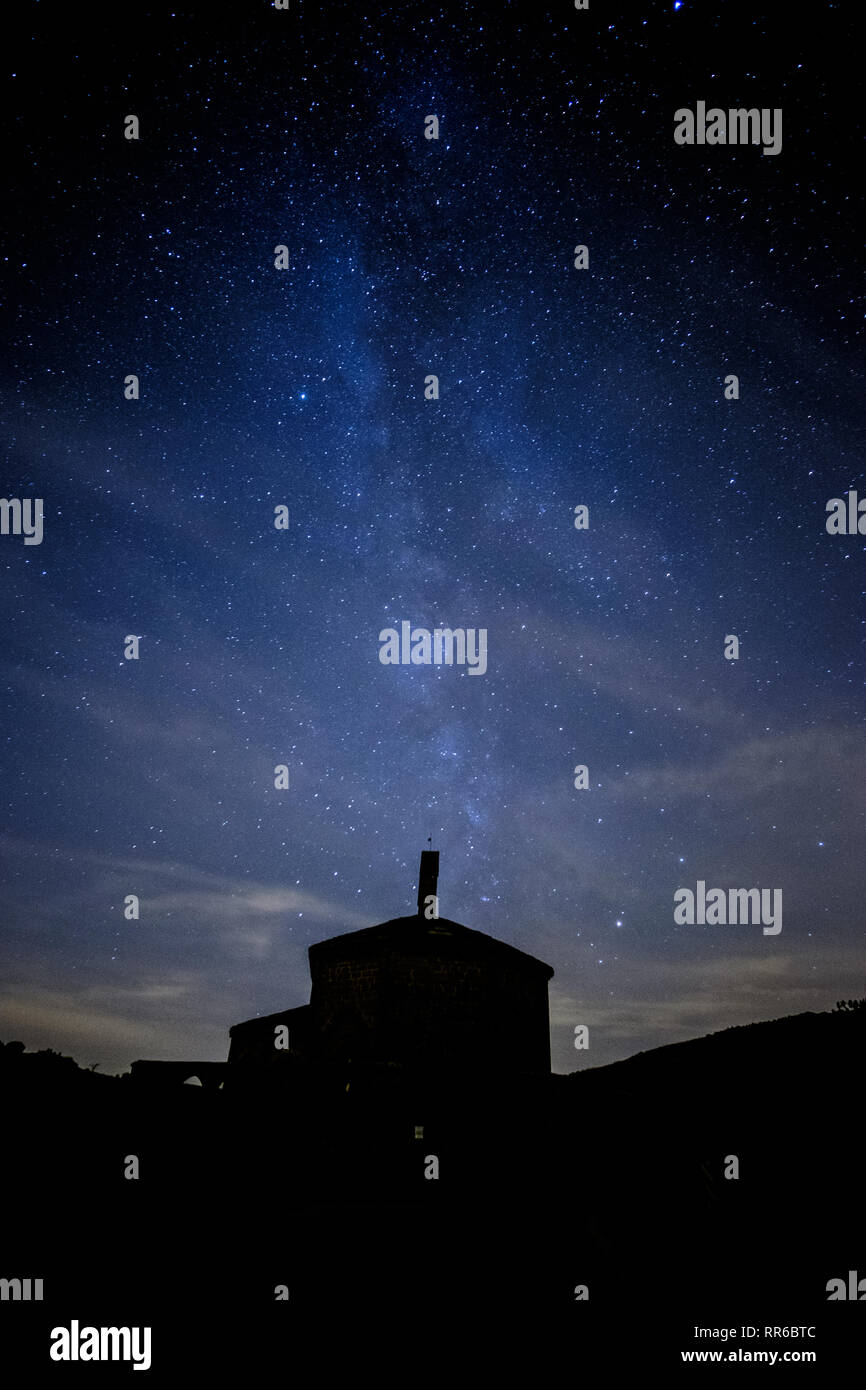 The Milky Way is the galaxy that contains our Solar System. The name describes the galaxy's appearance from Earth Stock Photo