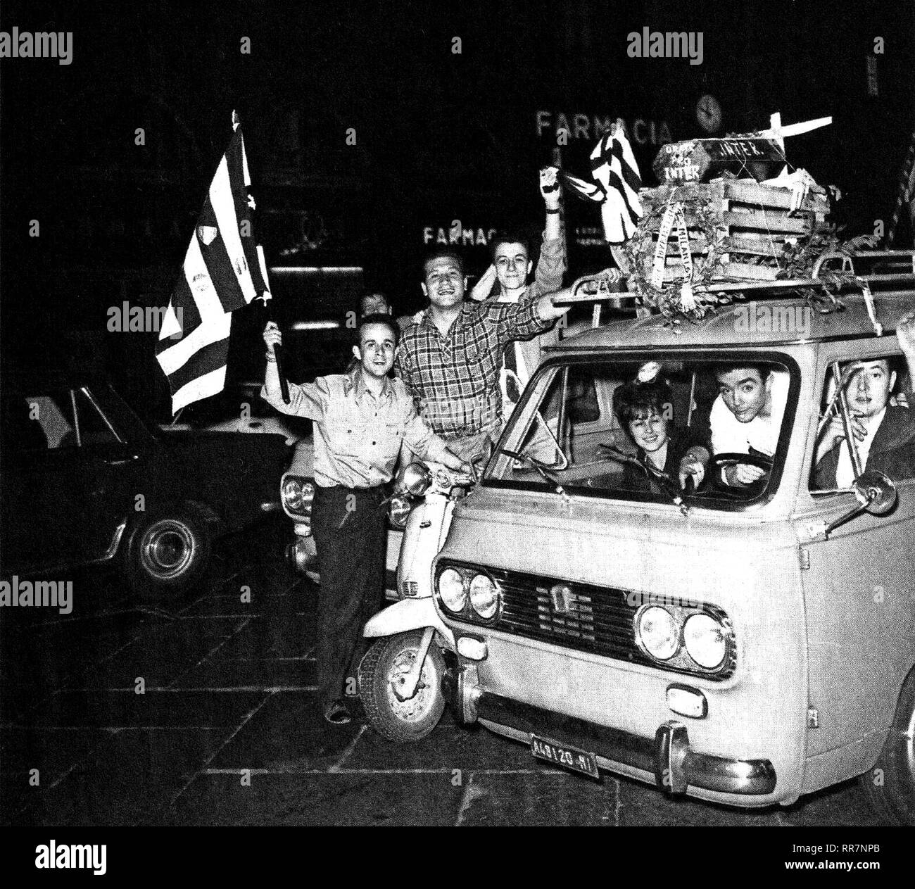 Milan (Italy), June 1, 1967  Milanese supporters of Juventus F C