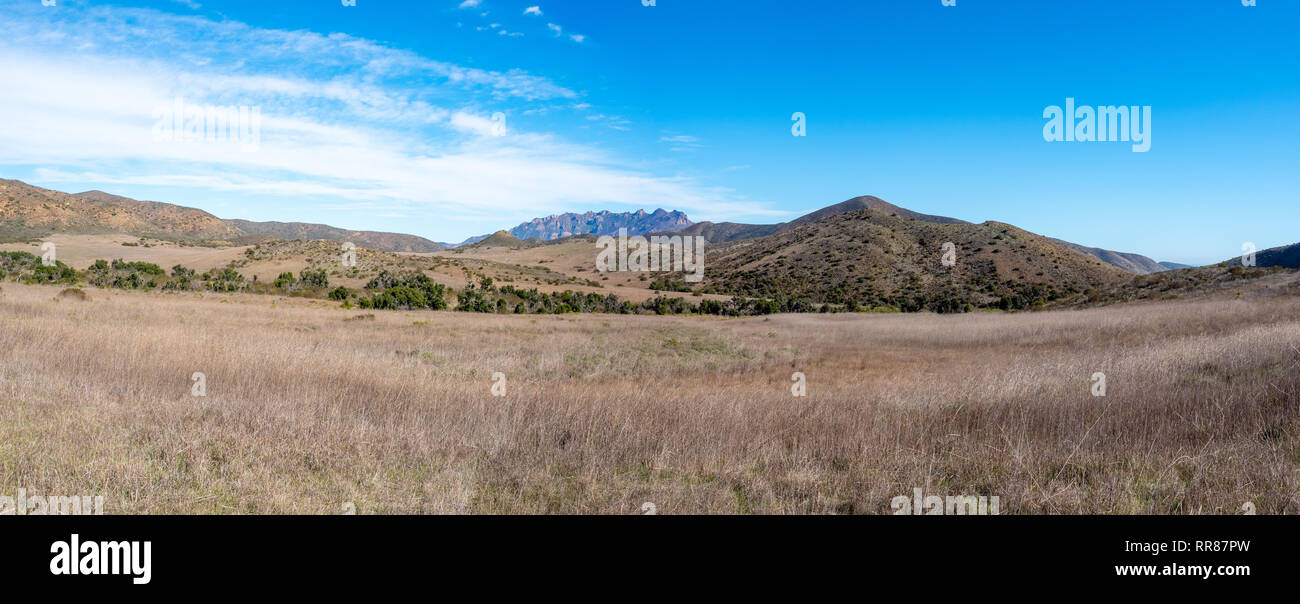 Hidden Valley, Chumash and Mugu Peak trail, Point Mugu State Park, Ventura County, California, USA - Stock Image