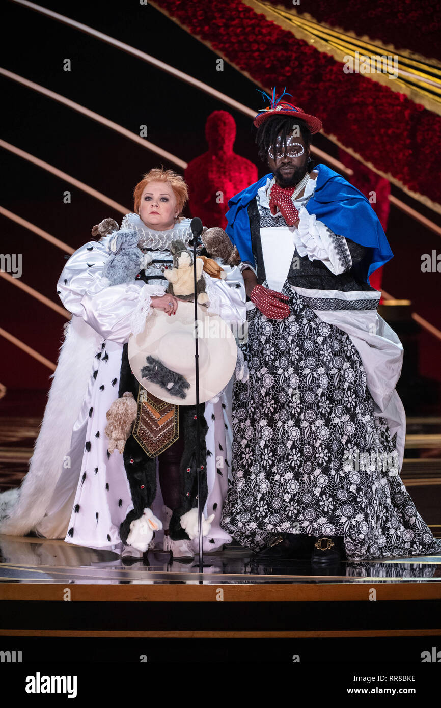 Melissa Mccarthy And Brian Tyree Henry Present The Oscar For Achievement In Costume Design During The Live Abc Telecast Of The 91st Oscars At The Dolby Theatre In Hollywood Ca On Sunday