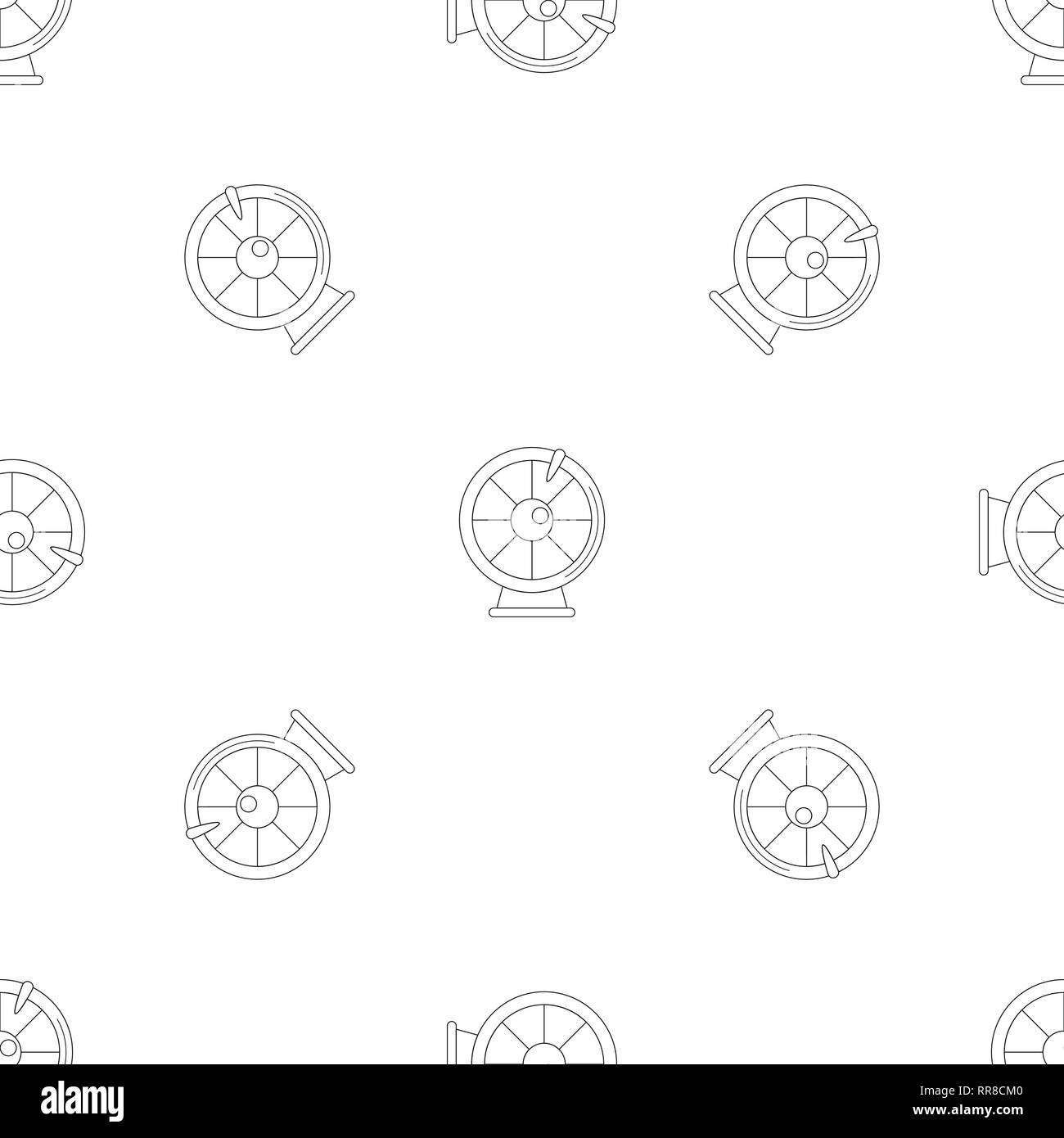 Fortune wheel pattern seamless vector repeat geometric for any web design Stock Vector