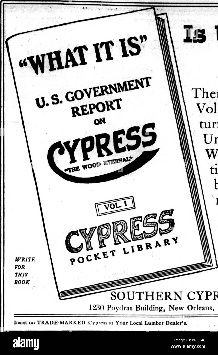 ". Florists' review [microform]. Floriculture. iSBPiuiBaB 14. 1022 The Florists' Review 139. Is Uncle Sam's Word Good Enough? »s-,« Then Mr. Greenhouse-man, just write for Volume I of the Cypress Pocket Library, turn to page 34 and read what our respected Uncle has to say about Cypress (""the Wood Eternar') for greenhouse construc- tion. You'll then see why sash, frames, benches, boxes, etc., for greenhouse use, not made of Cypress are not as good as they ought to be. WHY? (It's your ques- tion.) 42 other volumes, all free. Full list in Volume I. Write and it comes. Also ask for FoL J, the  - Stock Image"