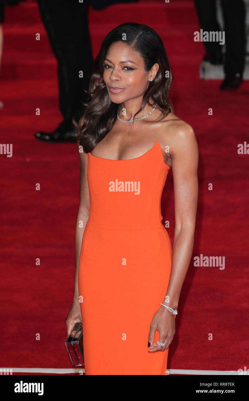 Oct 26, 2015 - London, England, UK -  James Bond Spectre World Premiere held at Royal Albert Hall:- Photo Shows:  Naomie Harris - Stock Image