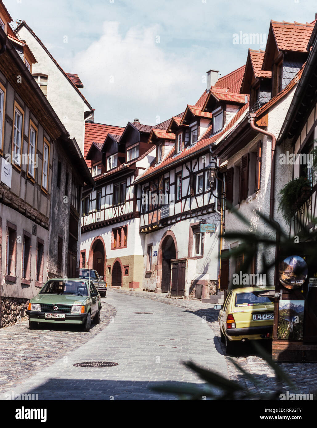 Germany. Weinheim town in the State of Baden-Wurttemberg. 15 Km from Heildelberg. - Stock Image