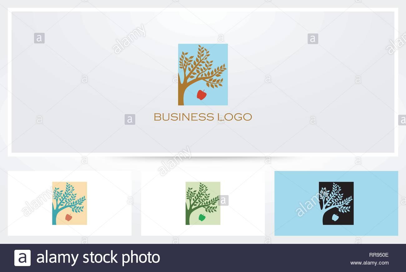 Apple Tree Logo - Stock Vector