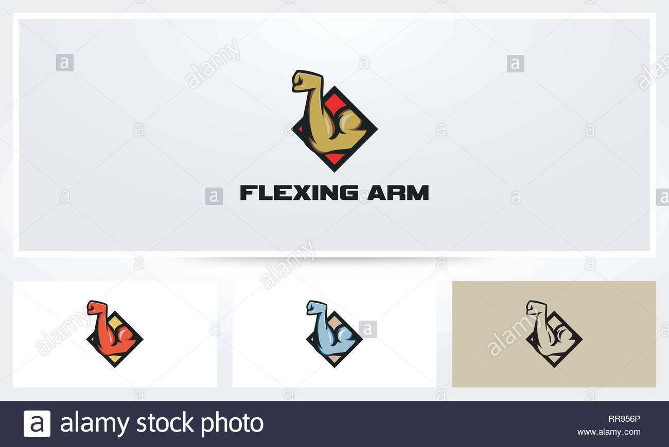 Flexing Arm Logo - Stock Vector