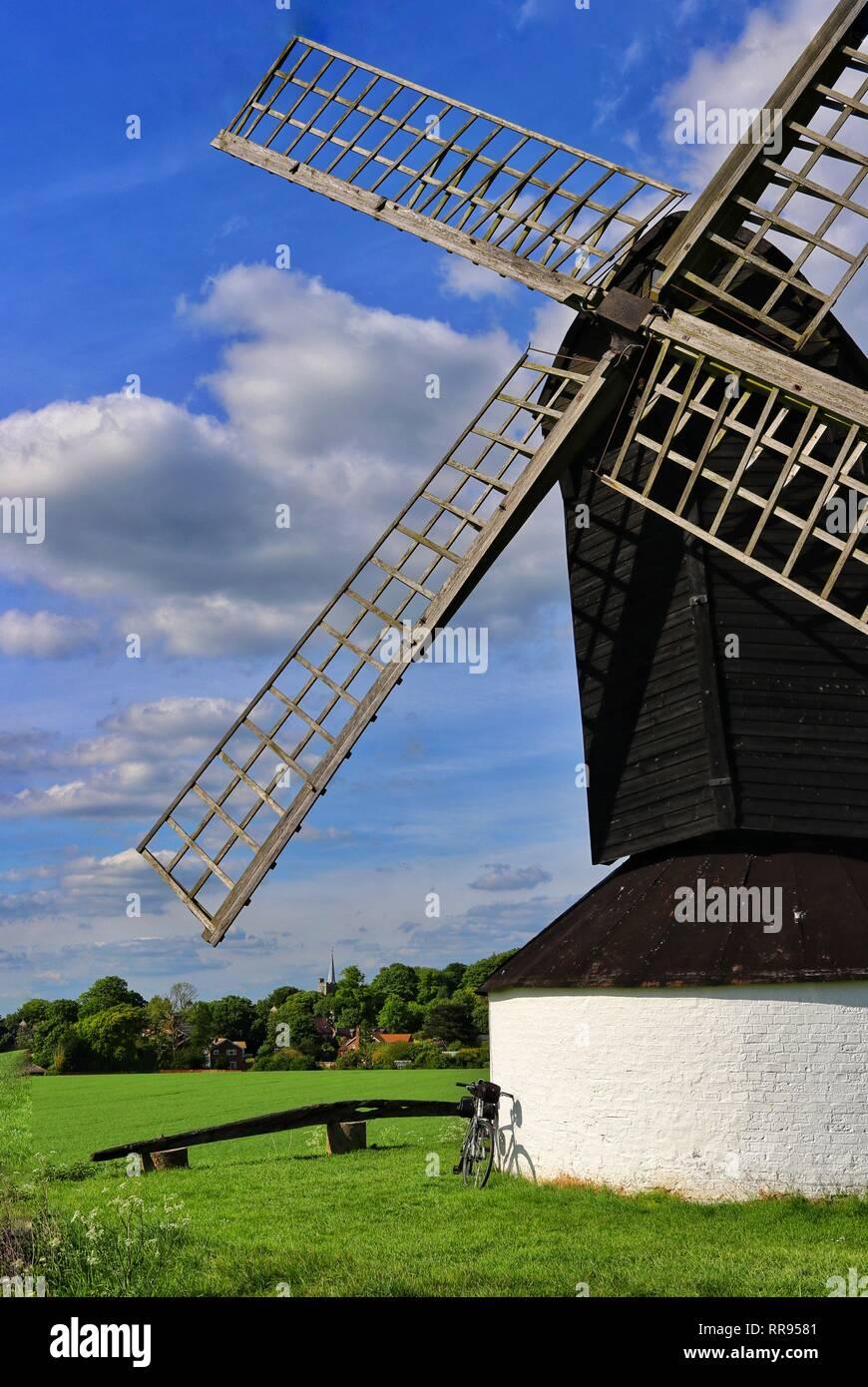 Pitstone windmill near Ivinghoe, Buckinghamshire, UK. - Stock Image