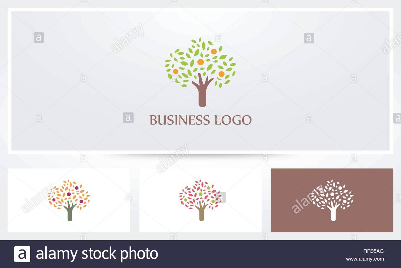 Fruit Tree Logo - Stock Vector