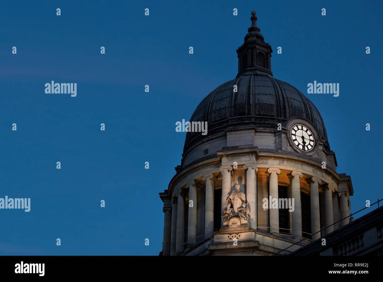 Nottingham Council House (city hall), Old Market Square, Nottingham,   England, UK Stock Photo