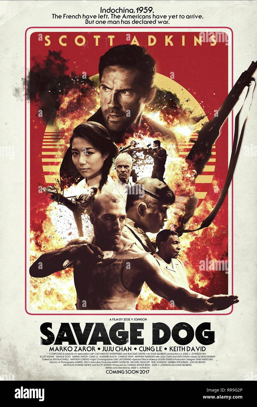 SAVAGE DOG, MOVIE POSTER, 2017 - Stock Image