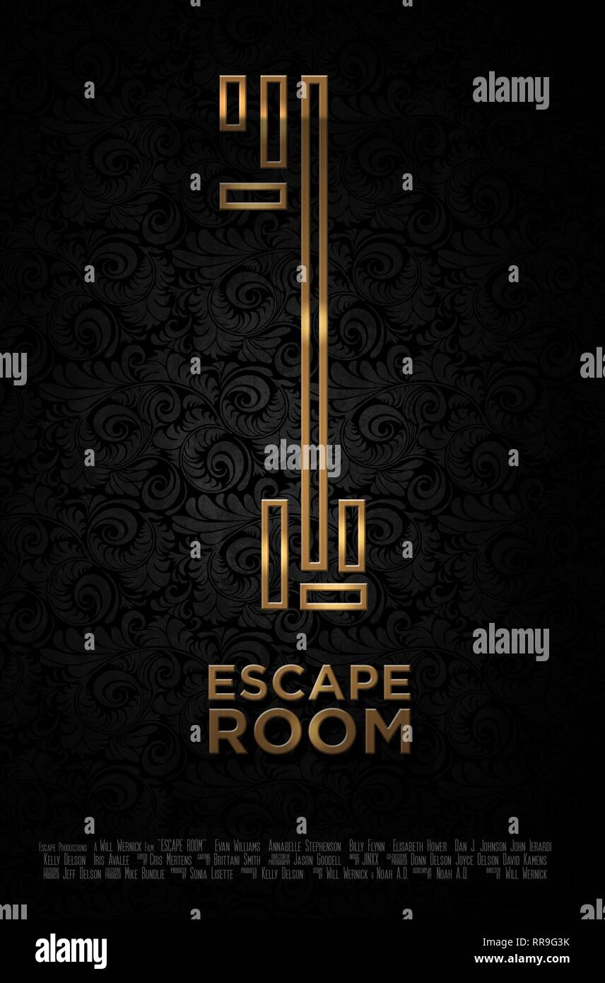 ESCAPE ROOM, MOVIE POSTER, 2017 - Stock Image