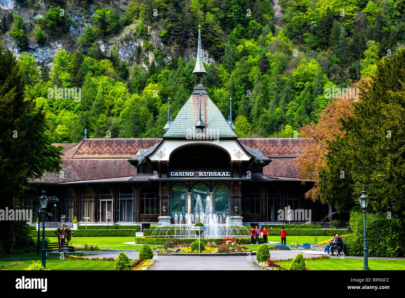 Casino Kursaal in the center of Interlaken, a very famous spot of the town. - Stock Image