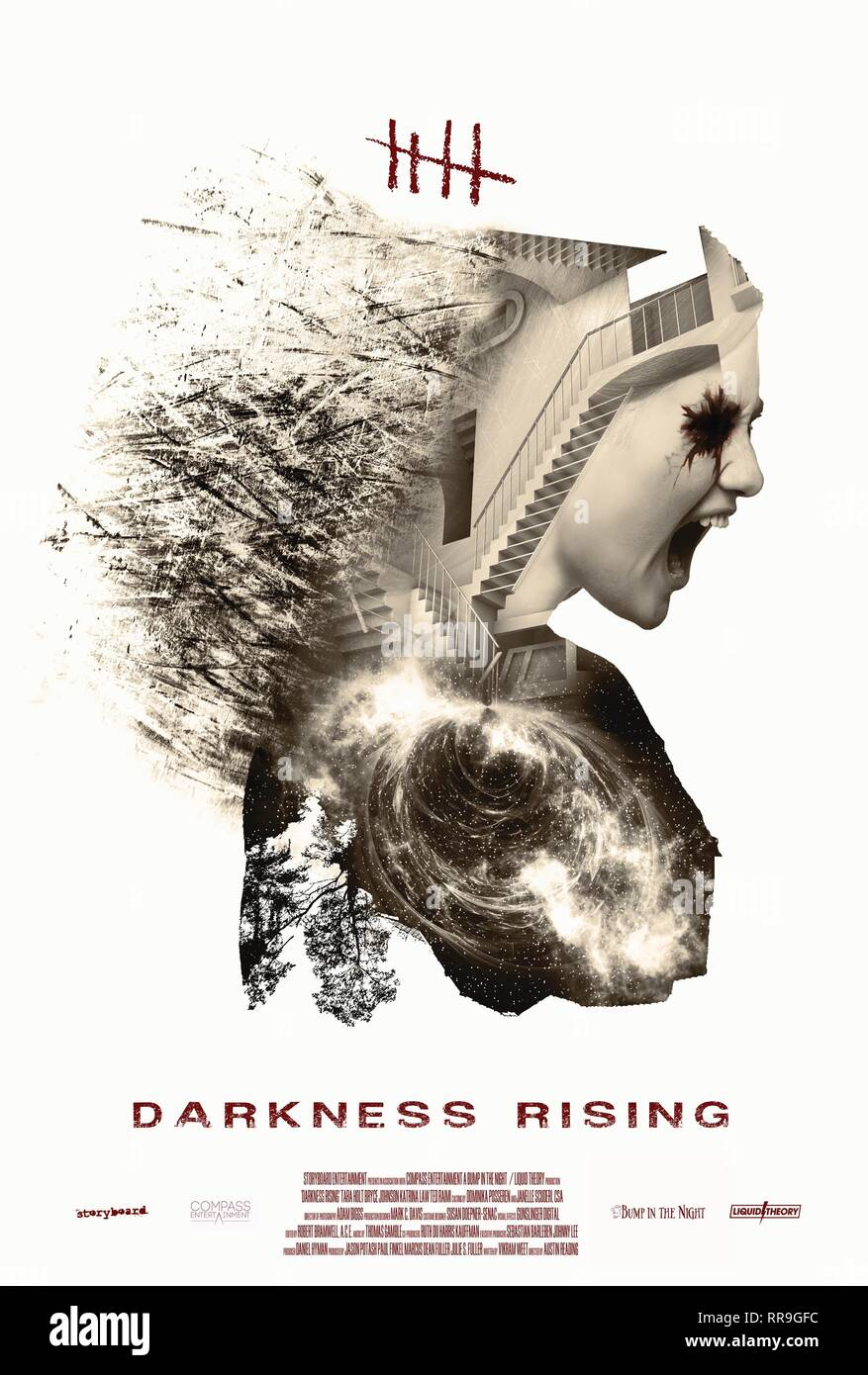 DARKNESS RISING, MOVIE POSTER, 2017 - Stock Image