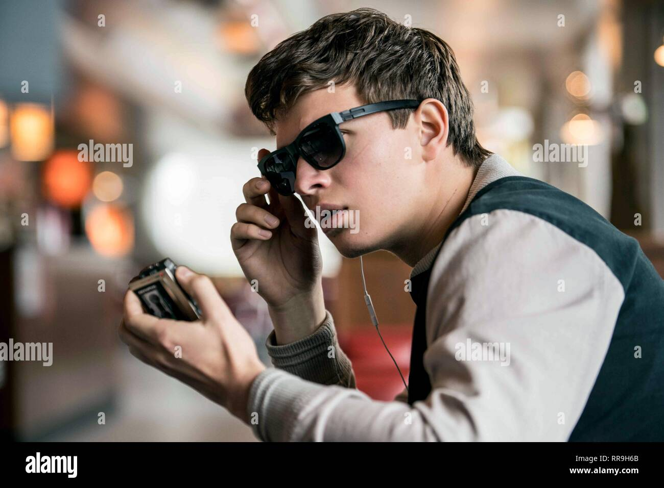 BABY DRIVER, ANSEL ELGORT, 2017 - Stock Image