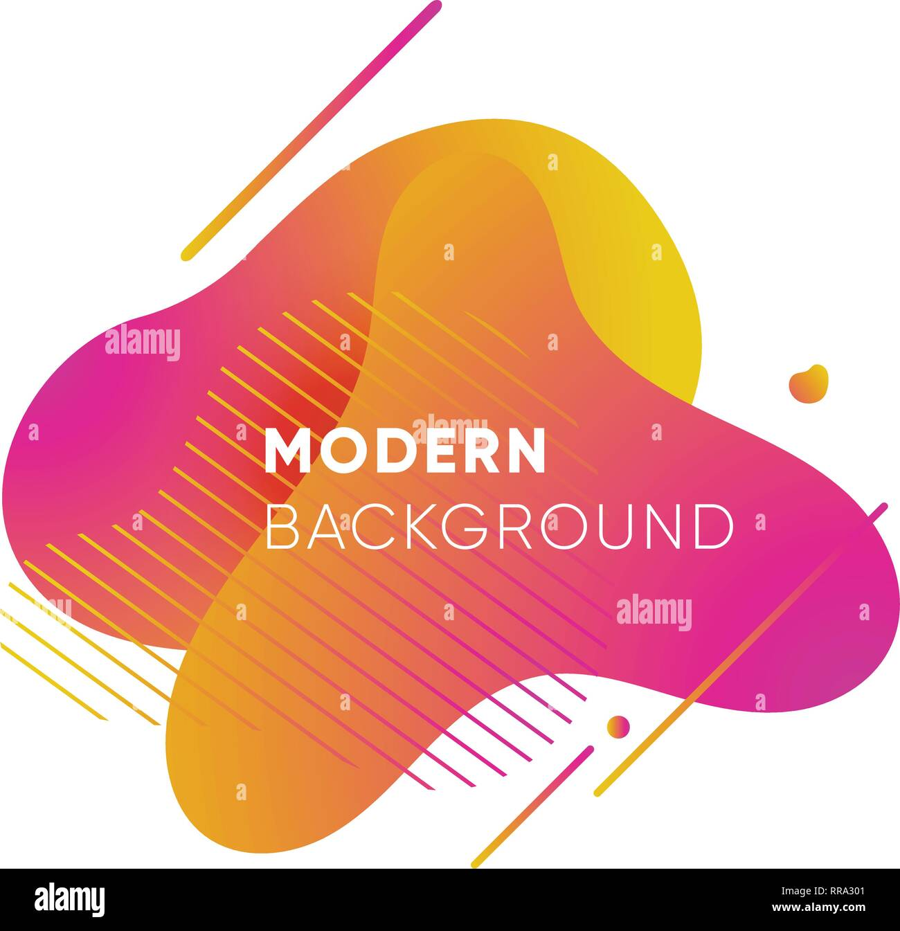 Dynamical colored graphic elements. Gradient abstract banners with flowing liquid shapes. Template for the design of a logo, poster or presentation. - Stock Vector
