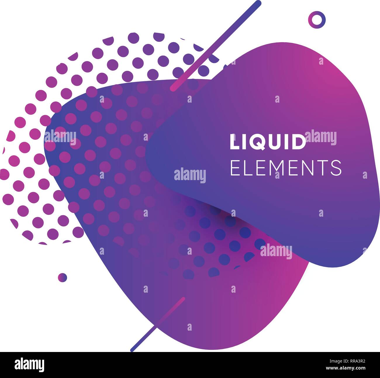 Dynamical colored graphic elements. Gradient abstract banners with flowing liquid shapes. Template for the design of a logo, poster or presentation. V - Stock Image