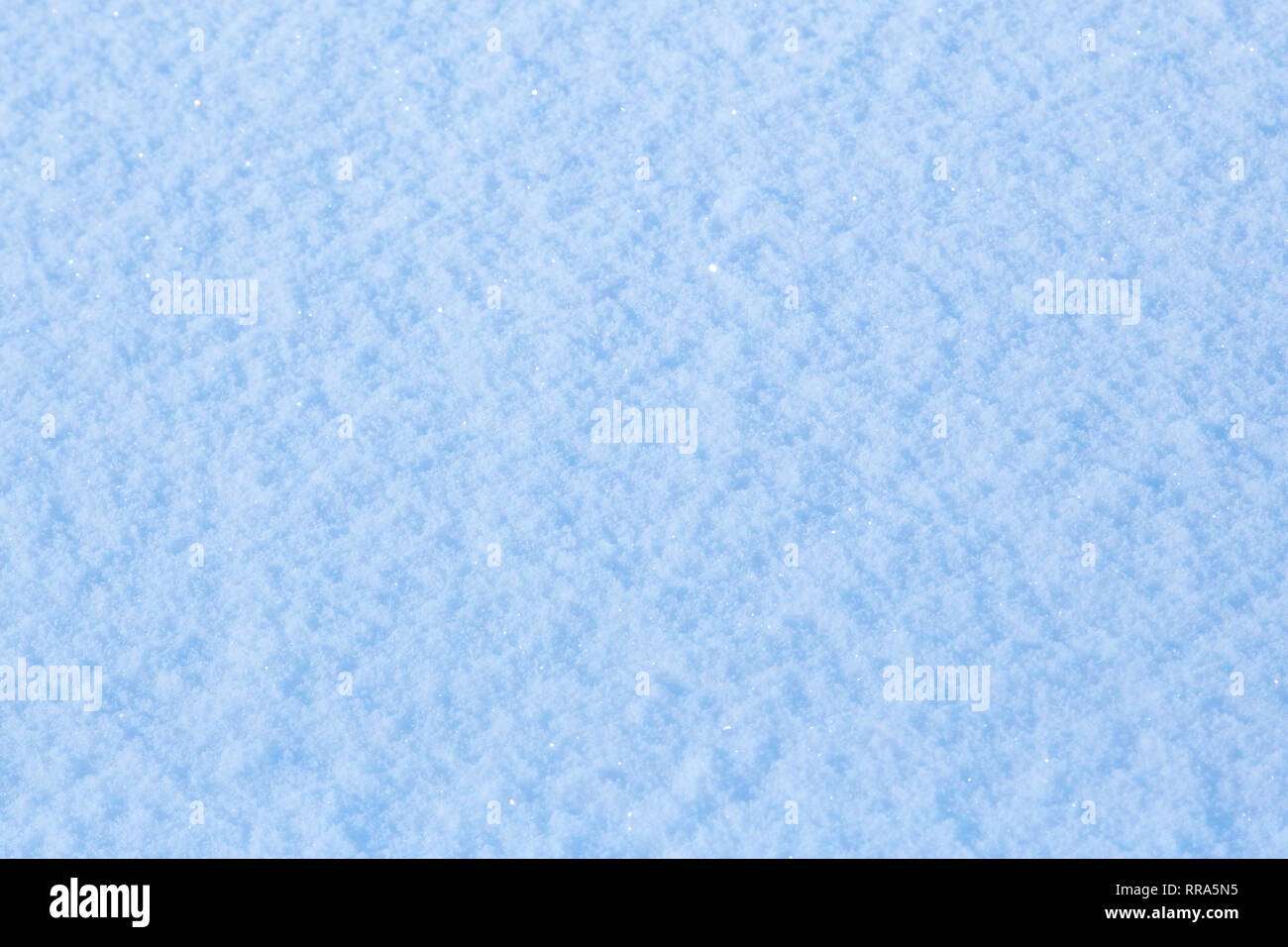 macro of glittering natural snow surface texture - Stock Image