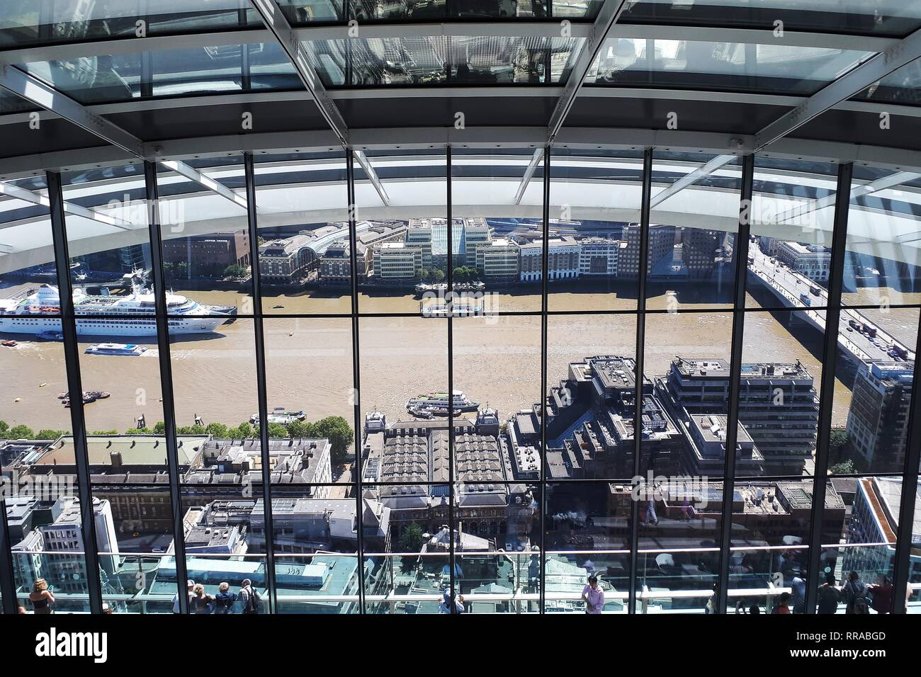 River Thames viewed from the roof garden at The Sky Garden, London  Picture by Antony Thompson - Thousand Word Media, NO SALES, NO SYNDICATION after p - Stock Image