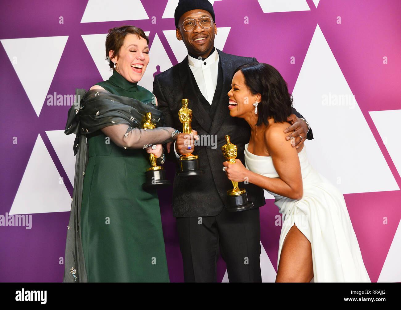 Los Angeles, USA  24th Feb, 2019  Olivia Colman winner Best