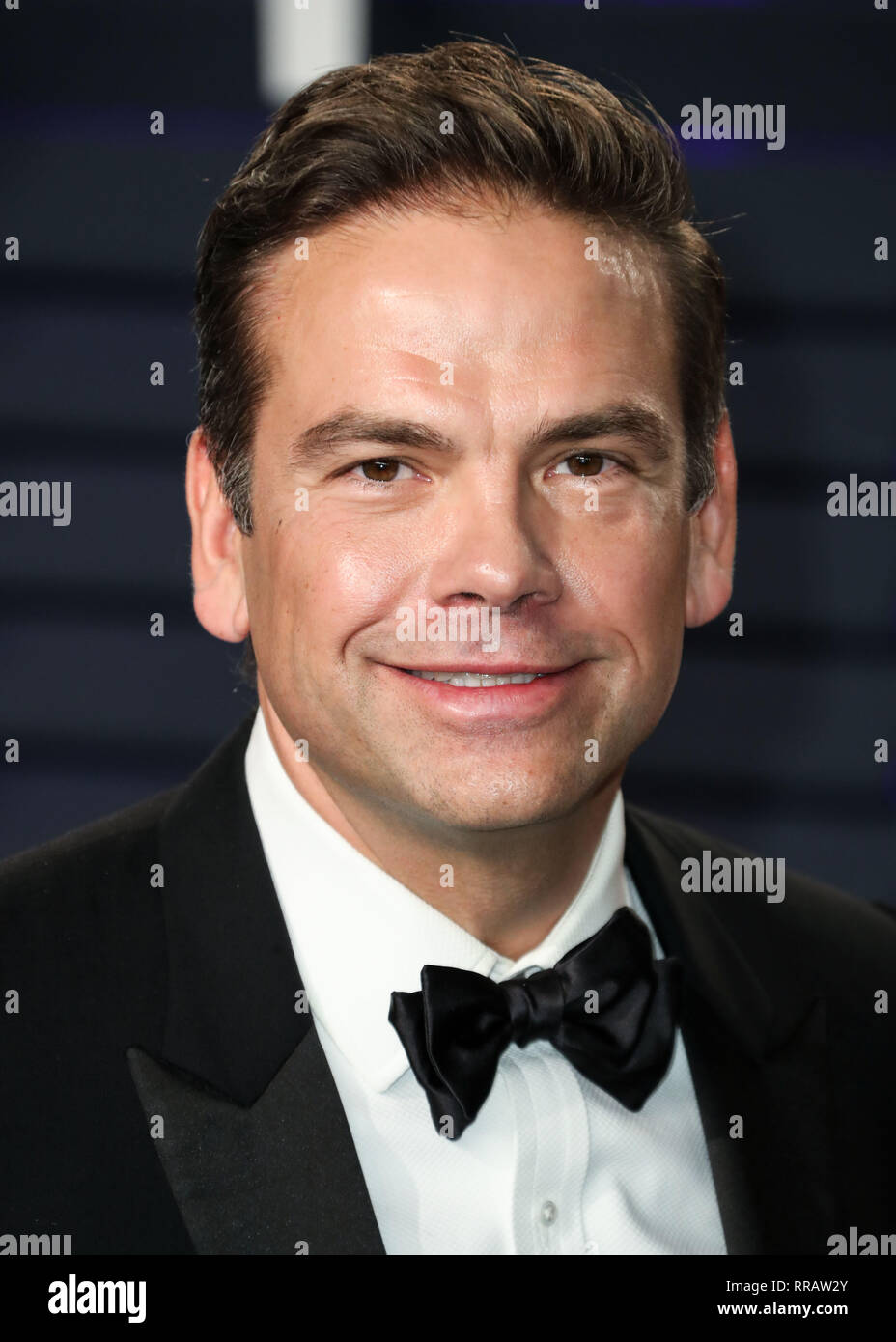 BEVERLY HILLS, LOS ANGELES, CA, USA - FEBRUARY 24: Lachlan Murdoch arrives at the 2019 Vanity Fair Oscar Party held at the Wallis Annenberg Center for the Performing Arts on February 24, 2019 in Beverly Hills, Los Angeles, California, United States. (Photo by Xavier Collin/Image Press Agency) - Stock Image